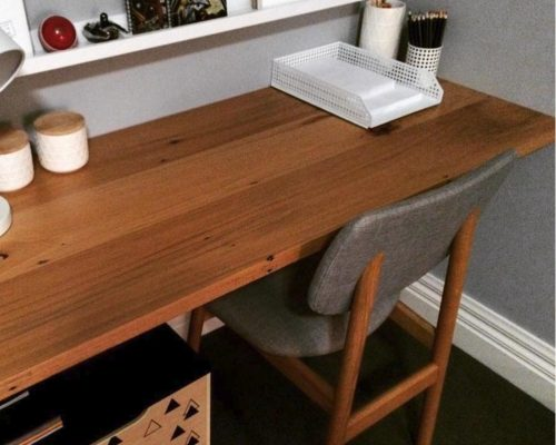 recycled timber benchtops