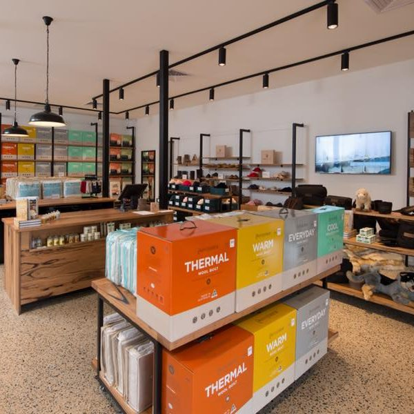 Timber Shelves Clothing Store