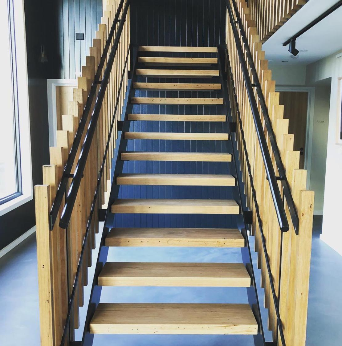 New timber stairs