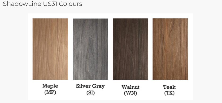 Different timber varieties
